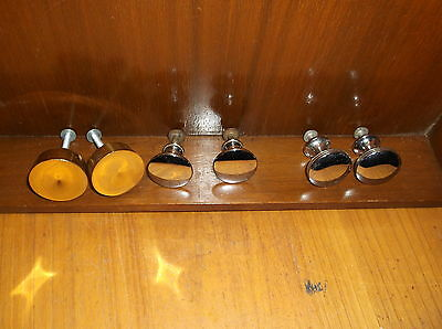 3 sets of Vintage Antique Round Drawer Pulls See Pictures