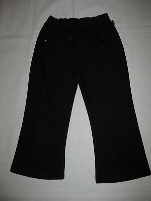 PSW Primary School Wear Girl's Black Bootleg Pants Winter School Uniform Size 6