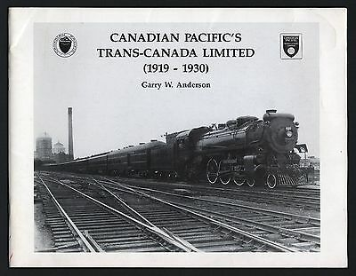 Reference Book: Canadian Pacific's Trans-Canada Limited (1919-1930)