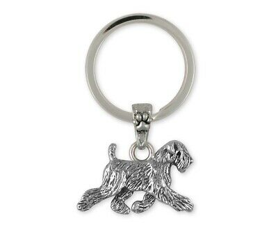 Soft Coated Wheaten Key Ring Jewelry Sterling Silver Handmade Dog Key Ring SCW11