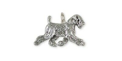 Soft Coated Wheaten Charm Jewelry Sterling Silver Handmade Dog Charm SCW11-C