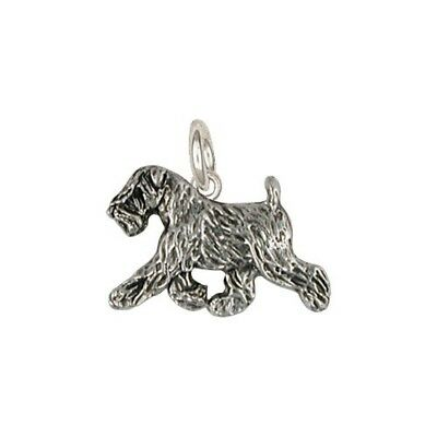Soft Coated Wheaten Terrier charm jewelry silver-SCW10c