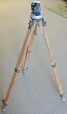1940 Surveyor's Transit Tripod Cast Iron and Height Adjustable