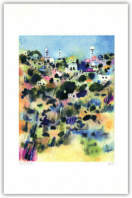 Jerusalem Towers~ Limited Edition Lithograph by Israeli Artist Victor Shrem