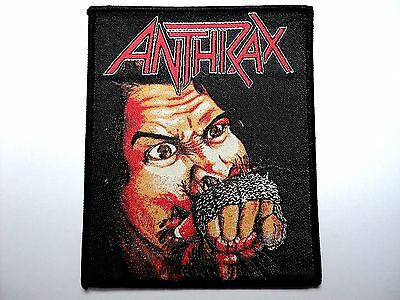 ANTHRAX fitsful of metal  WOVEN PATCH