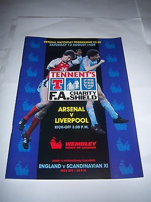 1989 FA CHARITY SHIELD - ARSENAL v LIVERPOOL - FOOTBALL PROGRAMME
