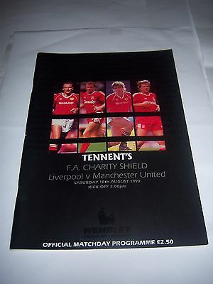 1990 CHARITY SHIELD - LIVERPOOL v MANCHESTER UNITED - FOOTBALL PROGRAMME