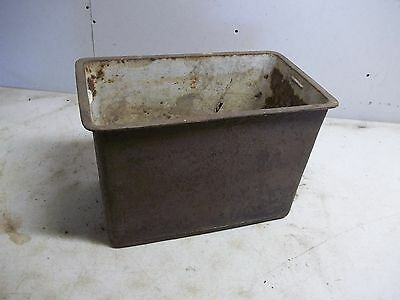 Old Cast Iron Wood Burning Stove Water Resevoir for  Flower Pot Garden Planter