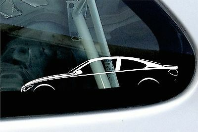 2x car silhouette stickers - for BMW F32 4-series Coupe 435i