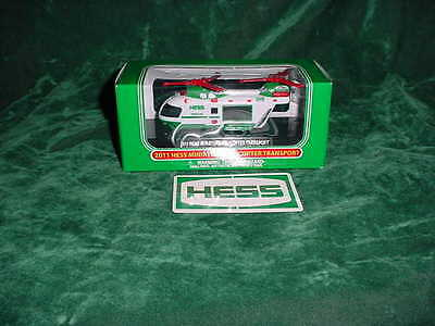 2011 Hess Toy Trucks Christmas Gift Miniature Helicopter Transport Truck Toys