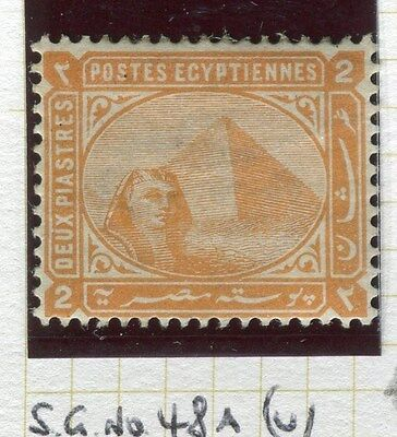 EGYPT;   1879-82 early Pyramid Sphinx issue fine Mint hinged 2Pi. value,