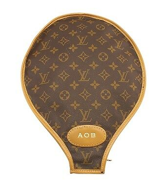Louis Vuitton Vintage Monogram Coated Canvas Zippered Tennis Racket Cover