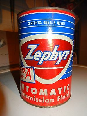VTG RARE Zephyr suffix A Auto Transmission  Motor Oil Can BANK Service Station