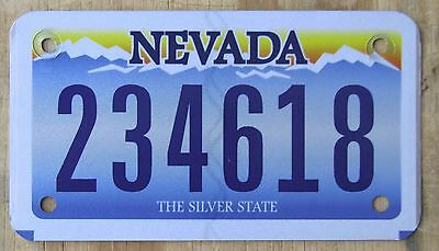NEVADA  MOTORCYCLE license plate   2011  234618
