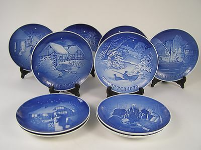 10 B&G Bing & Grondahl Christmas Plates 1970-79 Jule After 70's Set