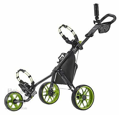 Caddytek 11.5 ALUMINIUM 3 Wheel Golf Push Trolley lightweight Caddy black Bikes
