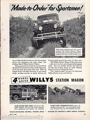 1950 WILLYS Overland Station Wagon AD