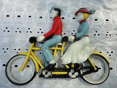 homco wall plaque # 7357 couple on bicycle