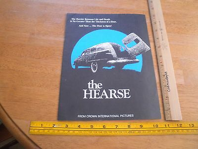 The Hearse 1980 VINTAGE theater program poster Trish Van Devere