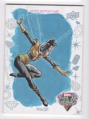 2016 Upper Deck Marvel Gems sketch GS-19 Wasp Jim Faustino