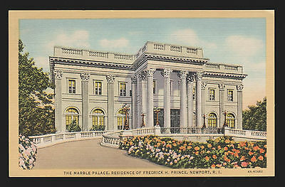 Postcard THE MARBLE PALACE PRINCE RESIDENCE NEWPORT Rhode Island NEW & UNUSED