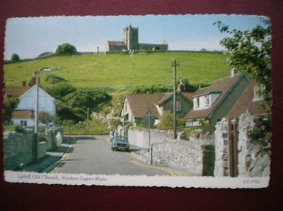 Postcard Somerset Weston Super Mare - Uphill Old Church