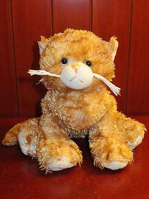 EUC GANZ WEBKINZ GINGER CAT HM431 Tabby No Code Plush Stuffed Animal Brown Toy