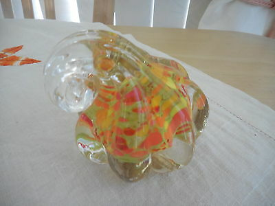 Art Glass Paper Weight Orange & Yellow