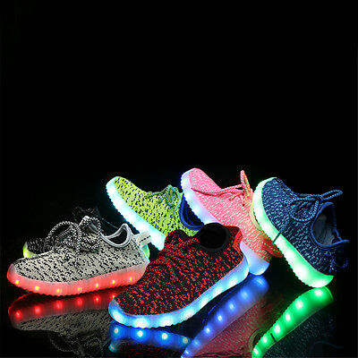 Fashion Cool Kids Light Up Shoes Girls LED Shoes Glowing Hip hop Sneakers lot