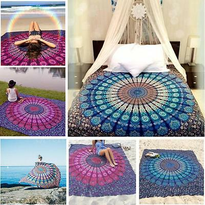 Indian Tapestry Wall Hanging Mandala Hippie Bedspread Decor Throw Picnic Blanket