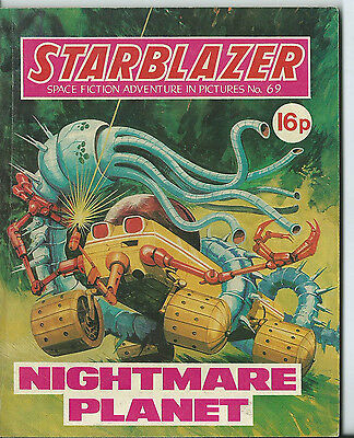 Nightmare Planet,starblazer Space Fiction Adventure In Pictures,no.69,1982