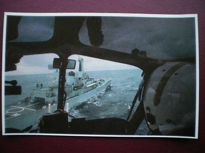 Postcard Rp Wwi Falklands Task Force - Diomede Seen From The Cockpit Od A Wasp H