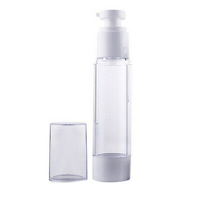 Travel Portable Airless Pump Empty Bottles Cosmetic Lotion Skincare 50ml 100ml