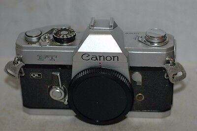 Canon Ft Ql   35 Mm Film   Camera  Body: Faulty Meter  Not Working.