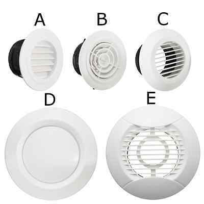 ABS Plastic Air Vent Outlet 100mm Mount Wall Louver Ventilation Grille Cover