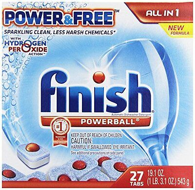 """""""Finish Powerball Tabs Dishwasher Detergent, Power and Free, 27 Count  """""""