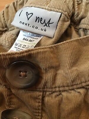 Girls NEXT 2-3 years Brown Skirt with pockets