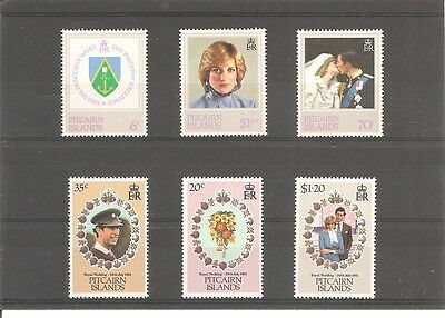 Collection  Of 6 Pitcairn  Islands  Mint Stamps
