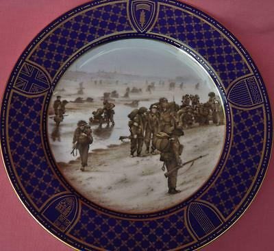 Spode Operation Overlord Plate Sword Beach 50Th Anniversary D-Day Landings Boxed