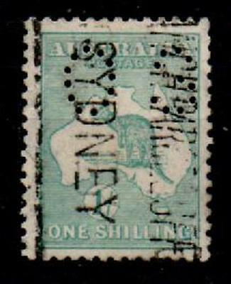 Australia Sgo35 1915 1/= Blue-Green Official Used