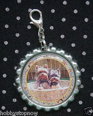 Yorkshire Terrier Yorkie Lanyard Backpack Purse Charm Zipper Pull Y2