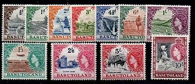 Basutoland Sg43/53 1954-8 Definitive Set Mtd Mint