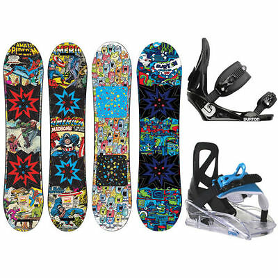 Burton Chopper + Burton or Stuf Snowboard binding – Children's Snowboard Set