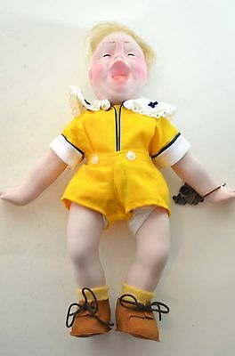 Norman Rockwell Jr. Porcelain Character Doll Rumbleseat Handcrafted Germany NEW