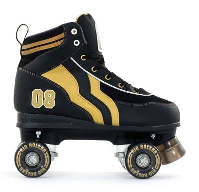 SFR NEW Rio Varsity Junior/Child/Kids Quad/Roller Skates Black/Gold ALL SIZES