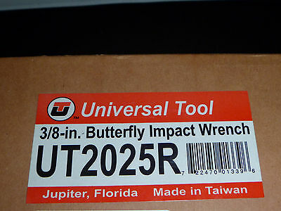 "Sealed New In Box Universal Tool 3/8"" Butterfly Impact Wrench"