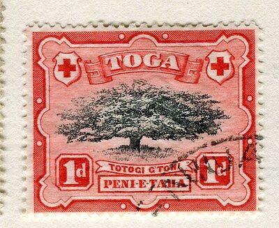 TONGA;  1897 early pictorial issue fine used 1d. value