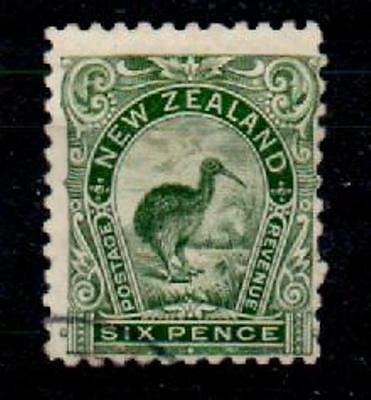 NEW ZEALAND SG264 1899 6d GREEN p11 USED