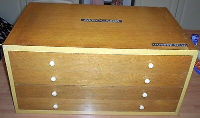 MECCANO EMPTY 4 DRAWER CABINET FOR A NUMBER 10 OUTFIT.......barn find