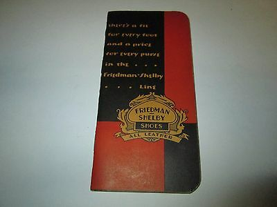 Vintage RED GOOSE SHOES Friedman Shelby All Leather Shoes Notepad Graphed Pages